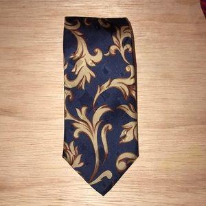 Blue silk hand tailored Custom shop tie